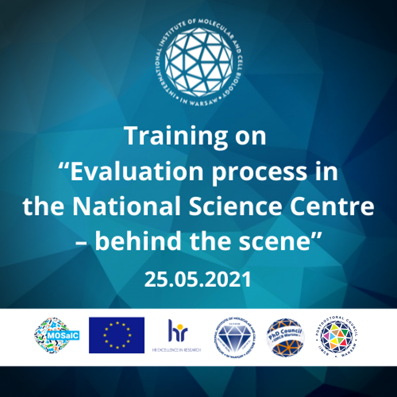 """Training on """"Evaluation process in the National Science Centre – behind the scene"""""""